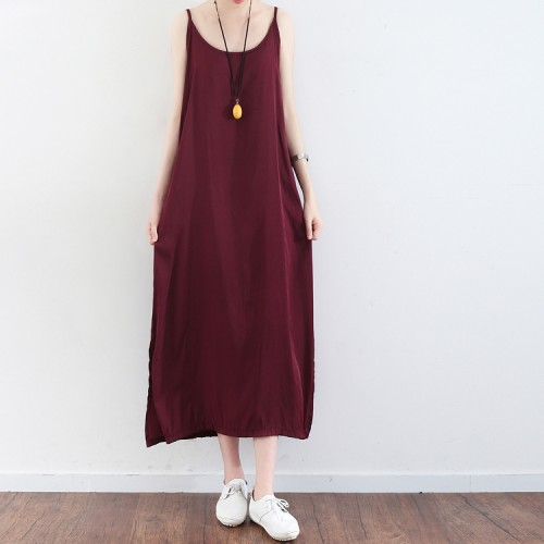 burgundy_cotton_dresses_oversize_casual_sundress_sleeveless_maxi_dress1